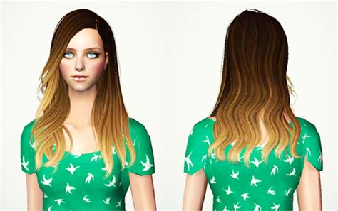 sims 4 ombre hair always sims ombre hair set