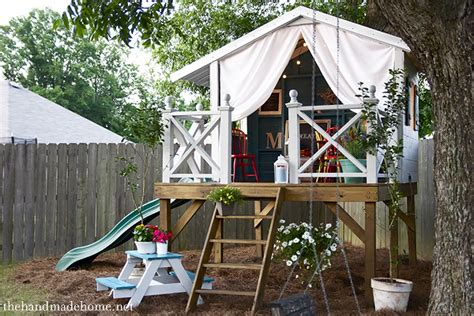 backyard fort for kids children s playhouse in the garden or backyard 2