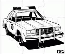 puzzle of police car coloring page printable game