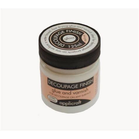 decoupage finish applicraft decoupage finish gloss finish 100ml