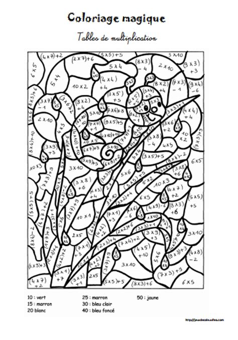 Jeu De Lulu Table De Multiplication 28 Images Coloriage Magique Math Matiques L