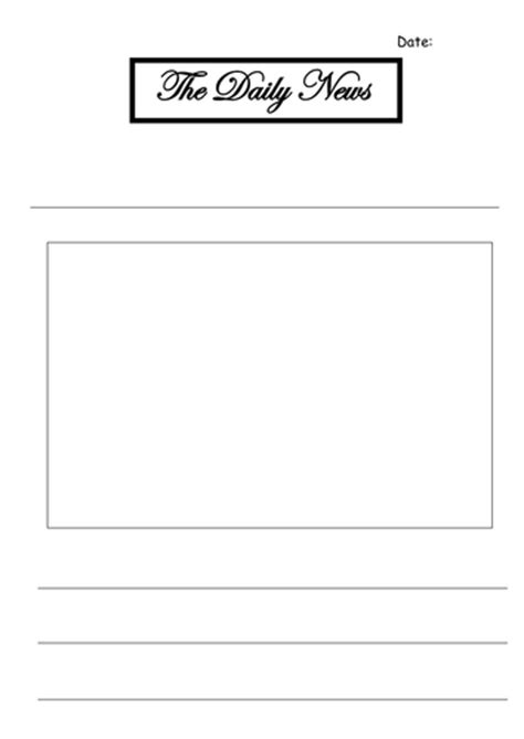 template ks1 newspaper template ks1 by littlemissnqt553 teaching