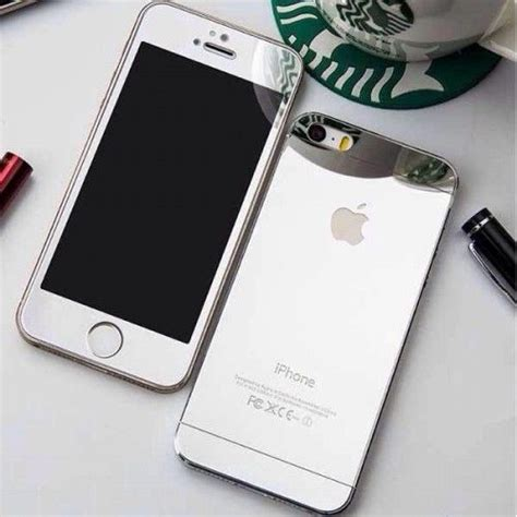 iphone  coloured electroplated mirror screen guard