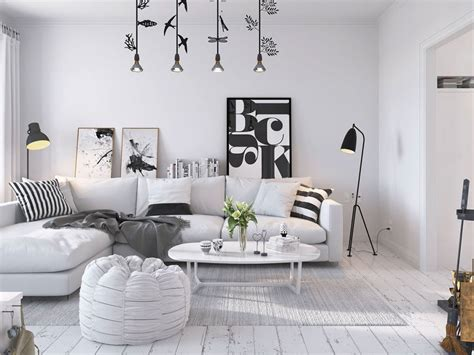 interior design themes bright scandinavian decor in 3 small one bedroom apartments