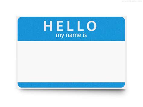 printable name tags hello my name is hello my name is psd template psdgraphics