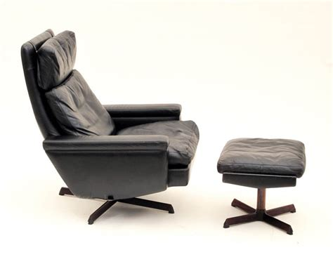 reclining chair with ottoman danish reclining swivel lounge chair with ottoman at 1stdibs