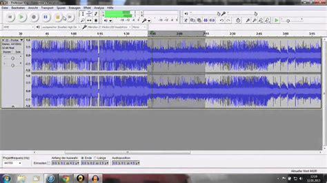 videopad tutorial schneiden tutorial audacity lieder musik schneiden youtube