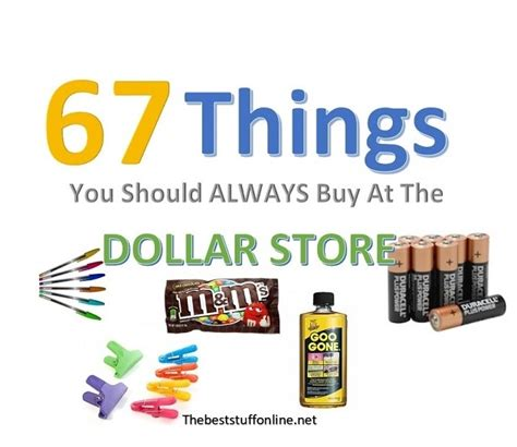 Things To Buy From An Store by 67 Things You Should Always Buy At A Dollar Store The