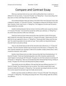 Comparison Essay Exle by Language Cyberarts Grade 8