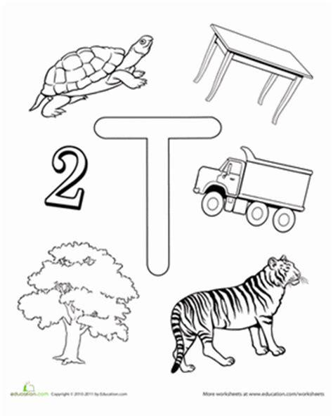 worksheets for preschool letter t t is for worksheet education com