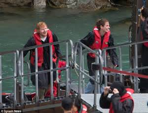 ed on a boat ed sheeran and cherry seaborn enjoy a jet boat ride in new
