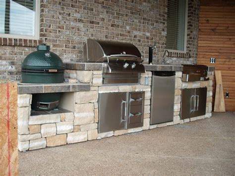 Backyard Grill Islands Big Green Egg And Grill Island Outdoor Kitchen