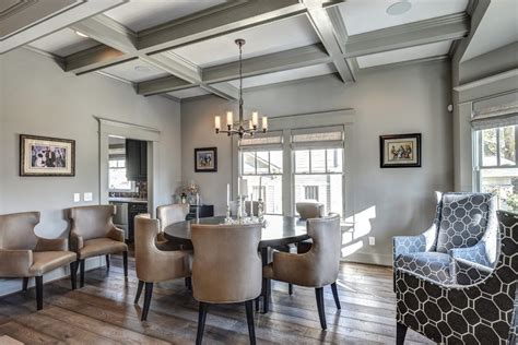 coffered ceiling paint ideas family room traditional with ceiling lighting recessed lighting