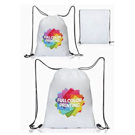 Print Travel Drawstring Bag drawstring bag promo trade print