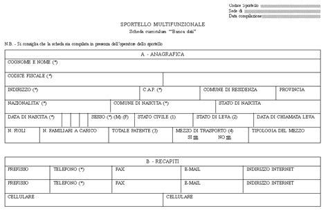 iscrizione ufficio collocamento documenti gurs parte i n 16 2001
