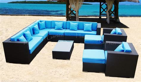 outdoor wicker sectional sofa patio furniture khk ebay