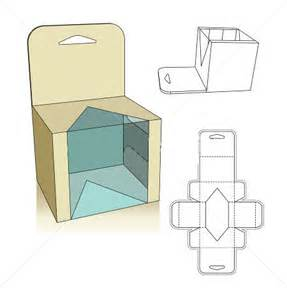 carton box template corrugated and folding carton box