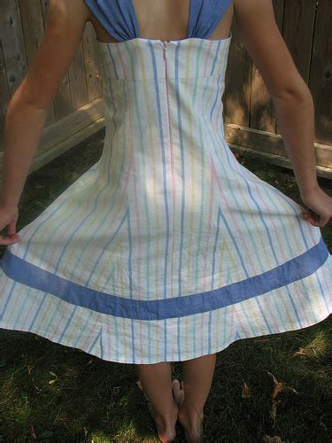 through cut up sheets and dresses rather dodgy face my sewing space simplicity 4721 striped sundress