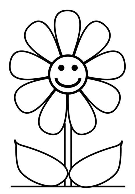 fiore disegno sta disegno di fiore con sorriso da colorare
