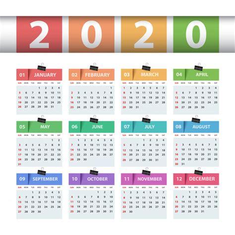 calendar  year business template vector premium