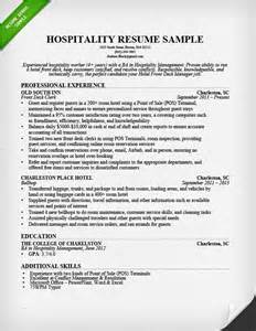 resume format hotel industry hospitality resume sle writing guide resume genius