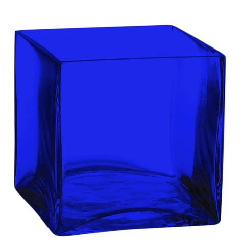 Blue Square Vase by The Cobalt Blue Store Cobalt Blue Vases For All Cobalt