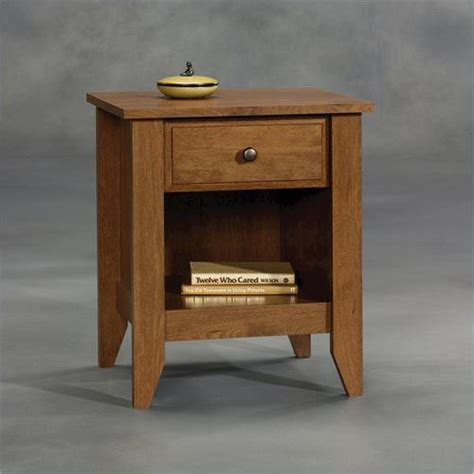 Sauder Shoal Creek Nightstand by Sauder 174 Shoal Creek Oak Nightstand At Menards 174