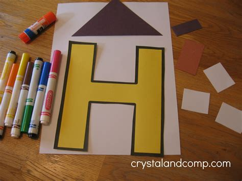 the craft house letter of the week h alphabet activities for preschoolers
