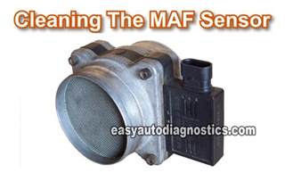 part 1 how to clean the gm mass air flow maf sensor