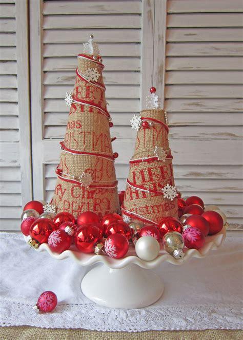 how to make a burlap christmas tree burlap trees the honeycomb home