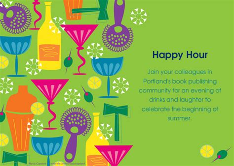 happy hour template pubwest portland happy hour invitations cards by