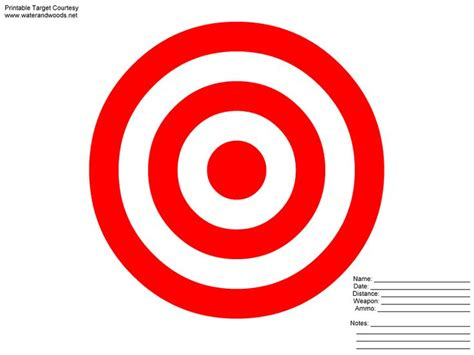 printable targets red 8x11 printable targets powerpoint animation clip art