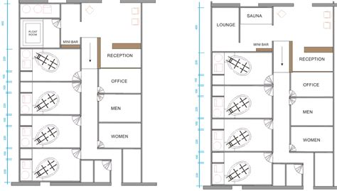 layout for salon floating center plan layout float spa