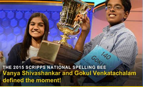 national spelling bee ends in tie for 2nd year in a row