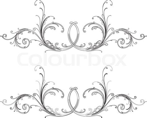 free baroque design elements vector baroque design element traditional style all curves