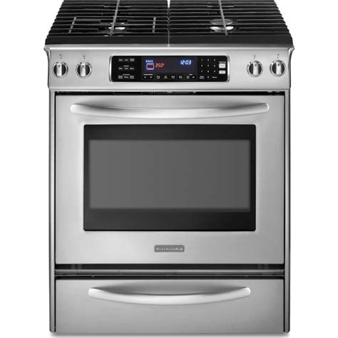 range kitchen appliances kitchenaid kdss907sss 30 quot slide in dual fuel range with