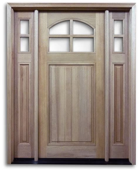Htc40 Pre Hung 4 Lite Mahogany Exterior Door With 2 Hung Exterior Doors