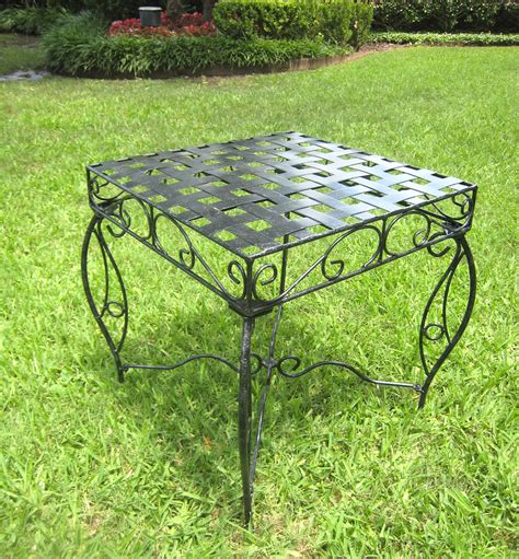 metal lattice side table wrought iron side table lattice in patio side tables