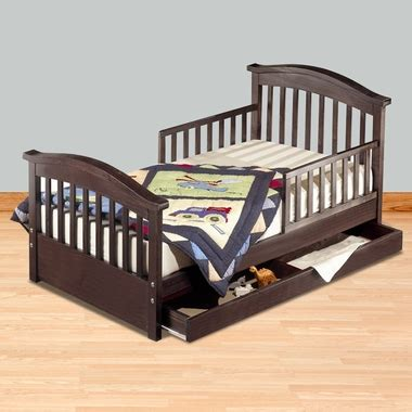 toddler bed espresso sorelle joel pine toddler bed with underbed drawer in espresso free shipping