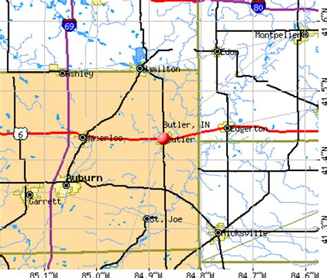 butler, indiana (in 46721) profile: population, maps, real