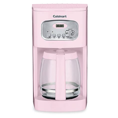 cuisinart coffee maker bed bath and beyond cuisinart 174 12 cup programmable coffee maker in pink bed