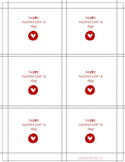 valentines card template free printable 9 best images of free printable s day card