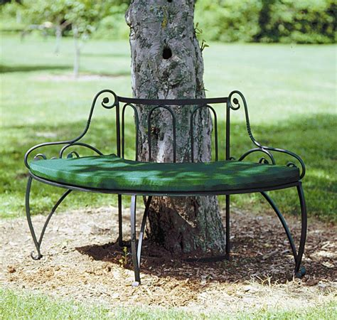 metal circular tree bench object moved