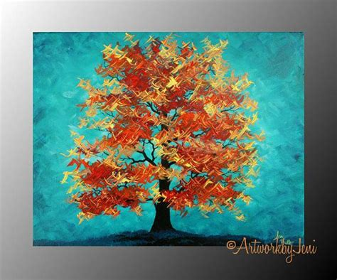acrylic painting ideas fall fall autumn tree painting acrylic on canvas landscape