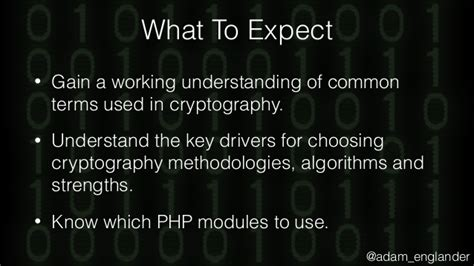 Cryptography Primer sunshinephp 2017 tales from the crypt a cryptography primer