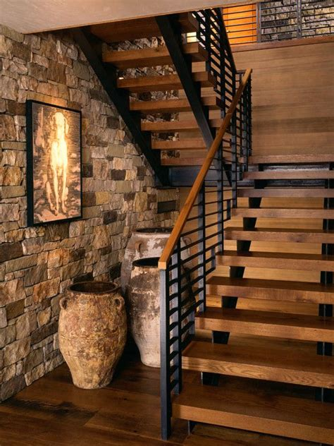 idea for wood metal mix decorations 25 best ideas about modern staircase on pinterest