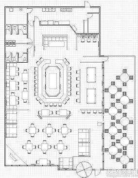 desain lop wedding 咖啡厅平面设计 土巴兔装修效果图