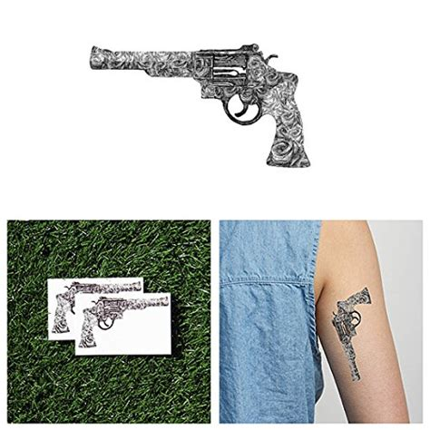 tattoo guns amazon guns and quotes temporary tattoos pack set of 12