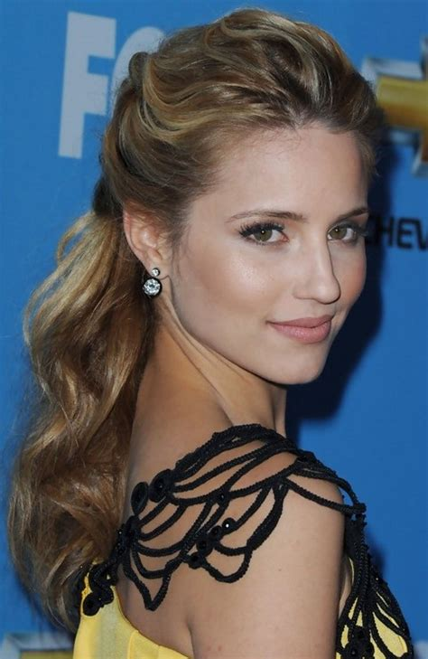 open hairstyles half up half down styles top 21 dianna agron hairstyles pretty designs
