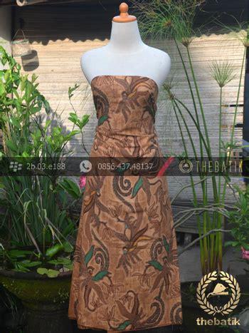Kemeja Batik Anggrek Hijau jual kain batik motif figuratif floral coklat